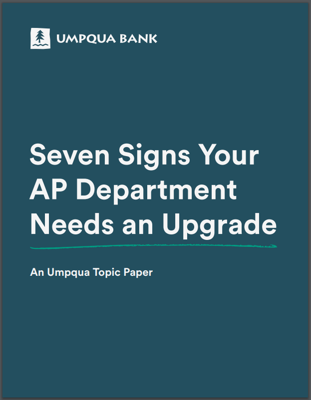 7 Signs Your AP Dept. Needs Upgrade Whitepaper Cover